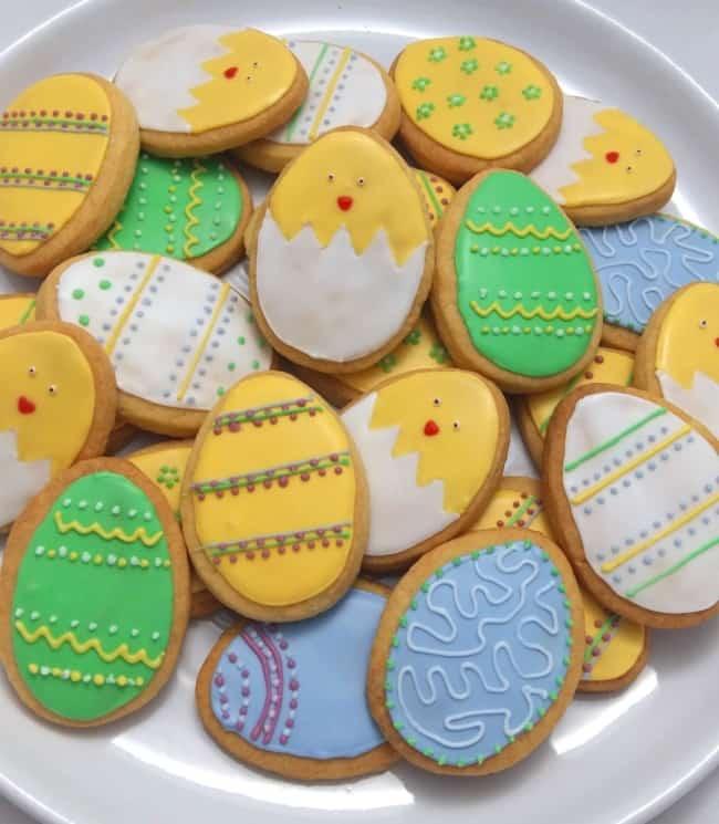 Biscoito de Páscoa de pintinhos