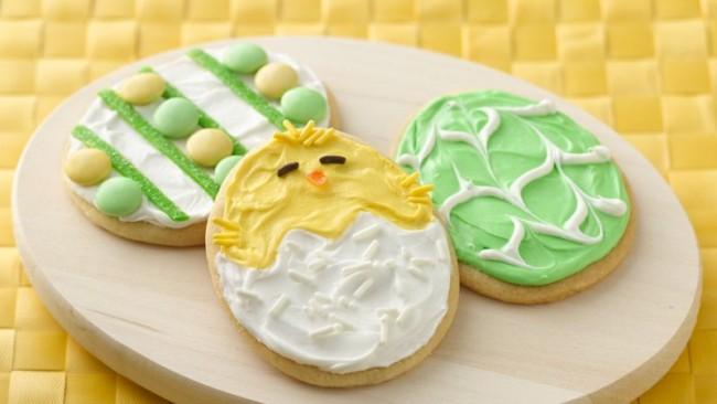 Biscoito de Páscoa verde e amarelo