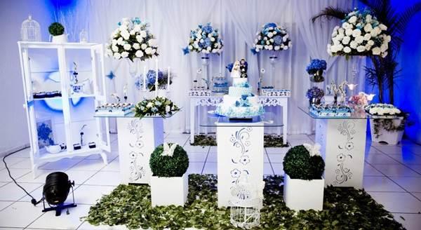 Casamento Azul e Branco provençal