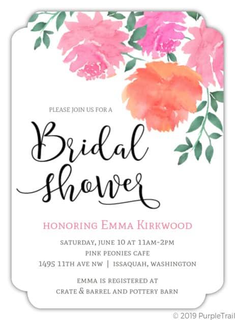 Convite de casamento online com flores