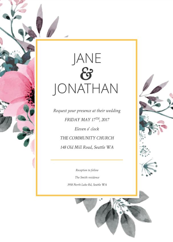 Convite de casamento online ideias