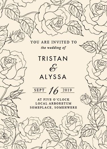 Convite de casamento online minimalista