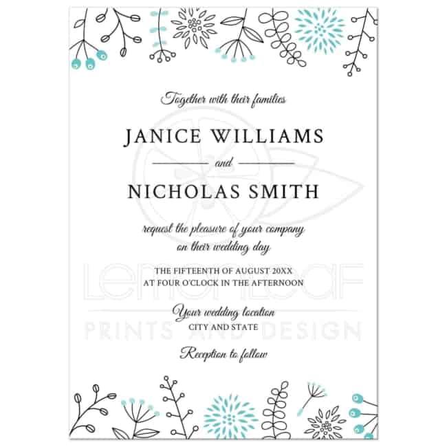 Convite de casamento online moderno