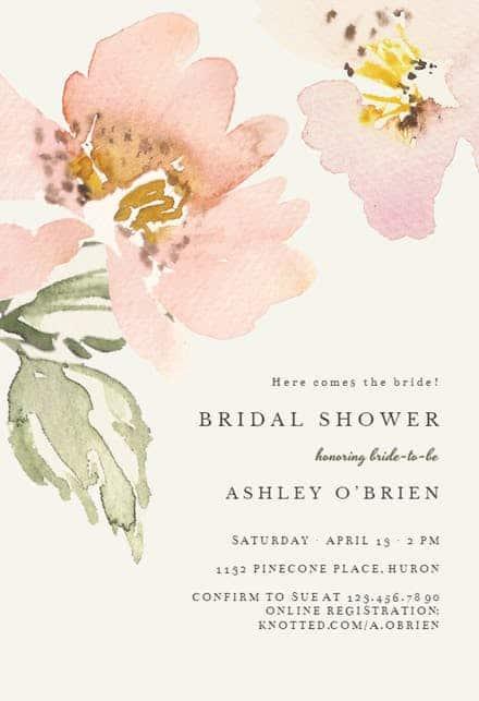 Convite de casamento online simples