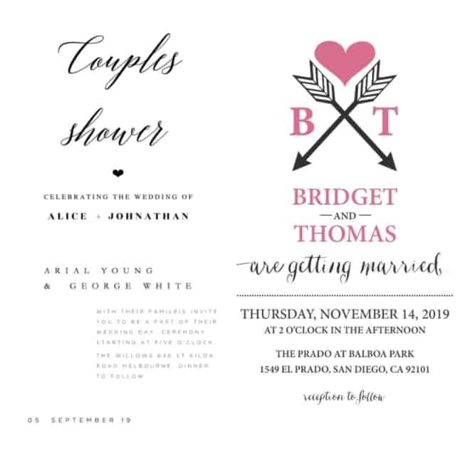 Convite de casamento virtual