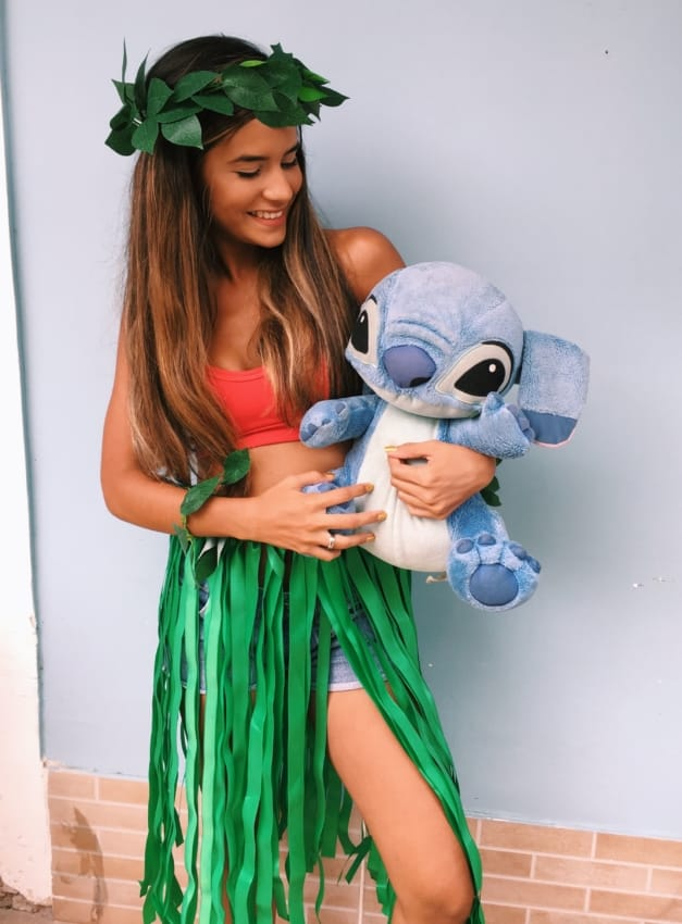 Fantasia de Carnaval feminina Tumblr de Lilo Stitch9