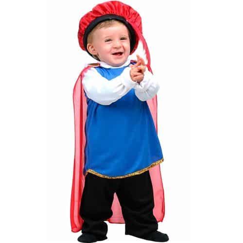 Fantasia de Carnaval para bebê de príncipe.