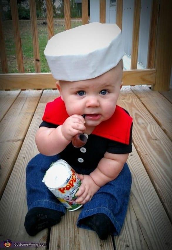 Fantasia de Carnaval para bebê de marinheiro13
