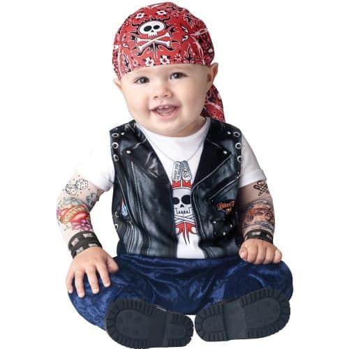 Fantasia de Carnaval para bebê de motoqueiro6