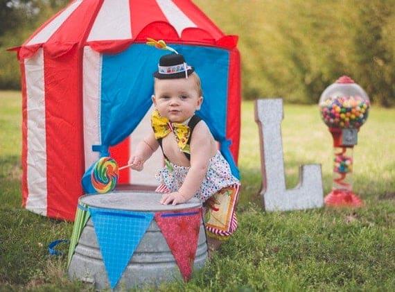 Fantasia de Carnaval para bebê de palhacinho2