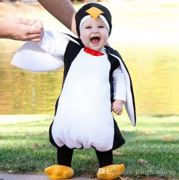 Fantasia de Carnaval para bebê de pinguim