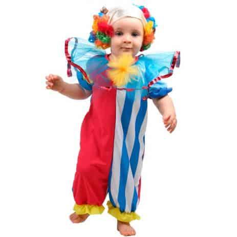 Fantasia de Carnaval para bebê de palhacinho