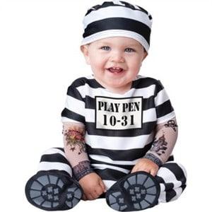 Fantasia de Carnaval para bebê de prisioneiro16