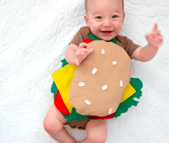 Fantasia de Carnaval para bebê de sanduíche7