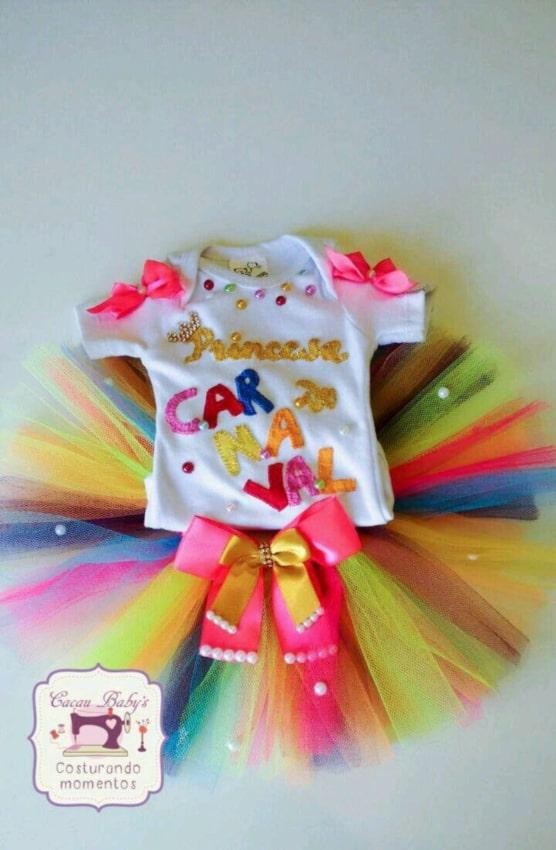 Fantasia de Carnaval para bebê menina com tule36