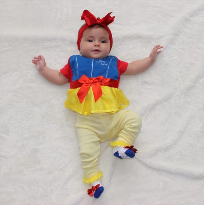 Fantasia de Carnaval para bebê menina de Branca de Neve35