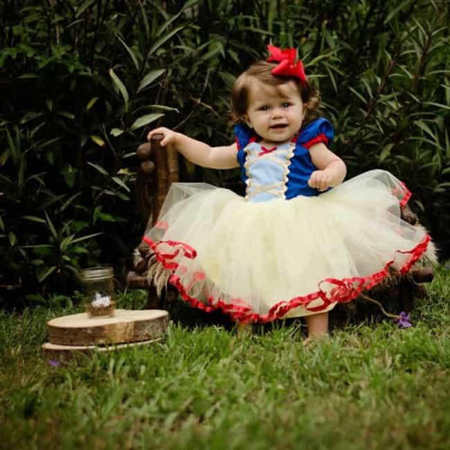 Fantasia de Carnaval para bebê menina de Branca de Neve37