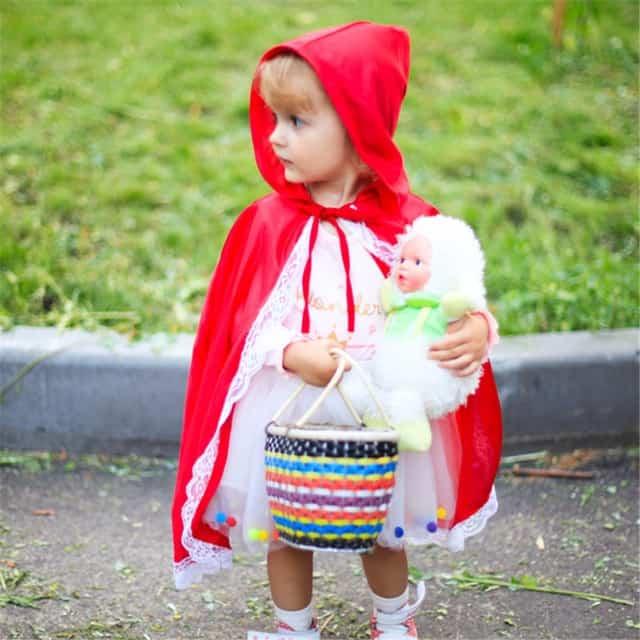 Fantasia de Carnaval para bebê menina de Chappéuzinho Vermelho31