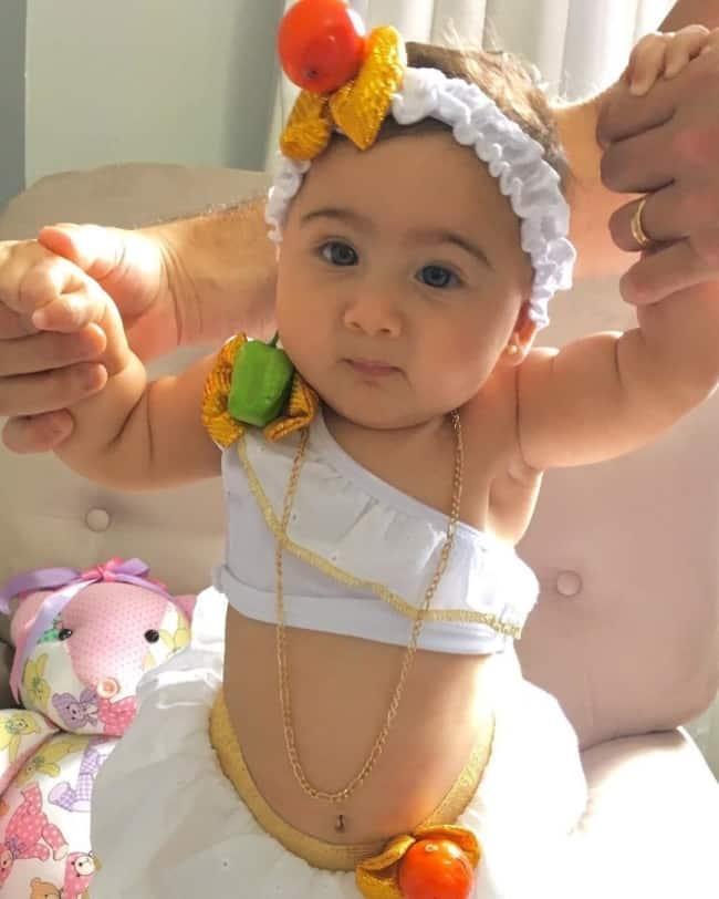 Fantasia de Carnaval para bebê menina de baiana47