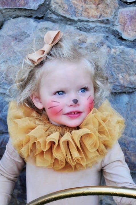 Fantasia de Carnaval para bebê menina de leoa28