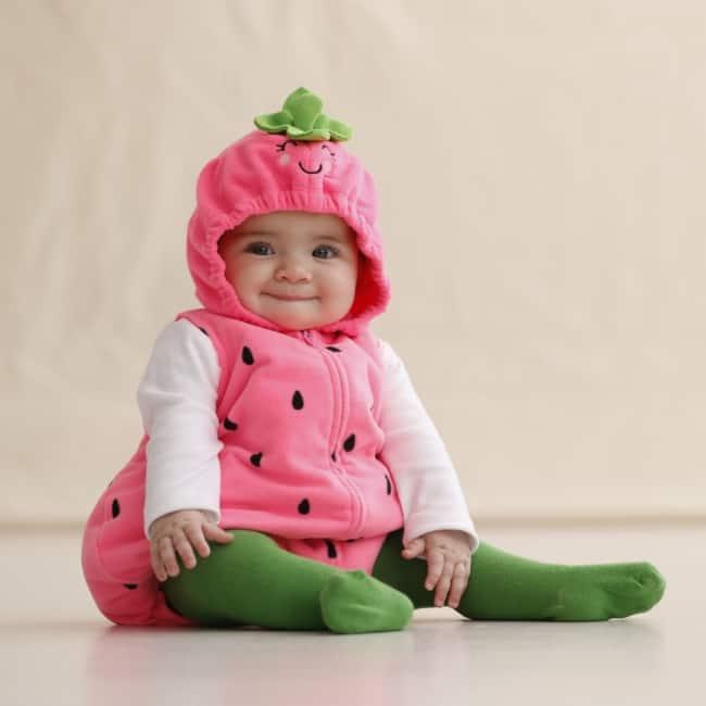 Fantasia de Carnaval para bebê menina de melancia34