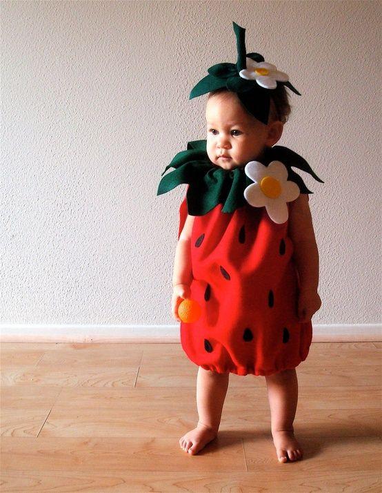 Fantasia de Carnaval para bebê menina de morango48