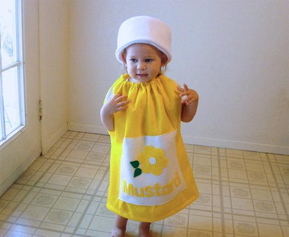Fantasia de Carnaval para bebê menina de mostarda30