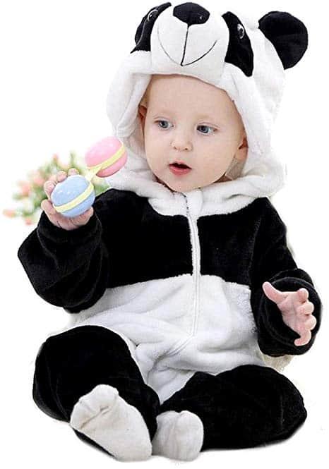 Fantasia de Carnaval para bebê menina de panda 41