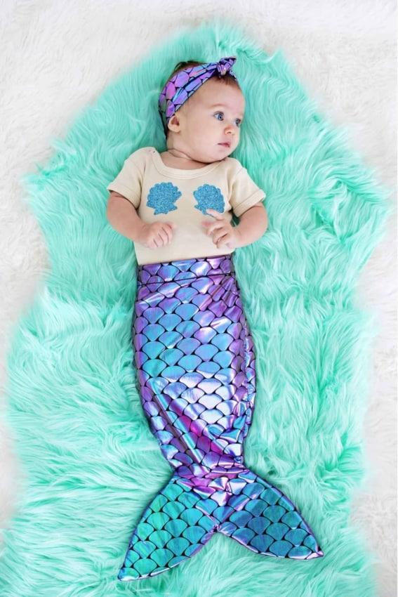Fantasia de Carnaval para bebê menina de sereia39