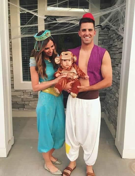 Fantasia de Carnaval para família com tema Aladim50
