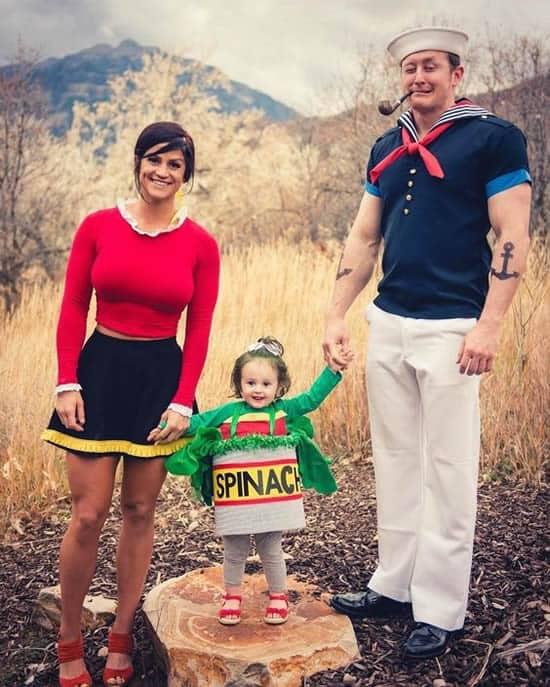 Fantasia de Carnaval para família com tema Popeye e Olivia51