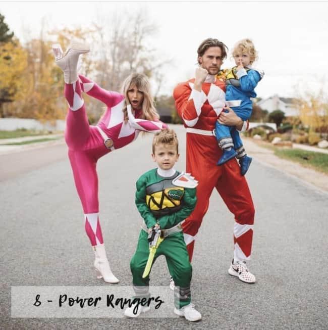 Fantasia de Carnaval para família com tema Power Rangers49