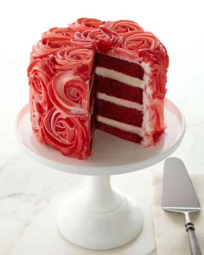 Massa red velvet para bolo de noivado