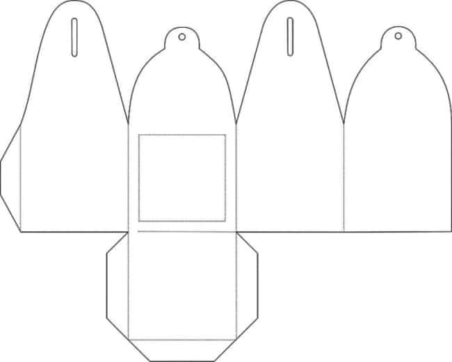 Moldes de lembrancinhas de casamento caixinha