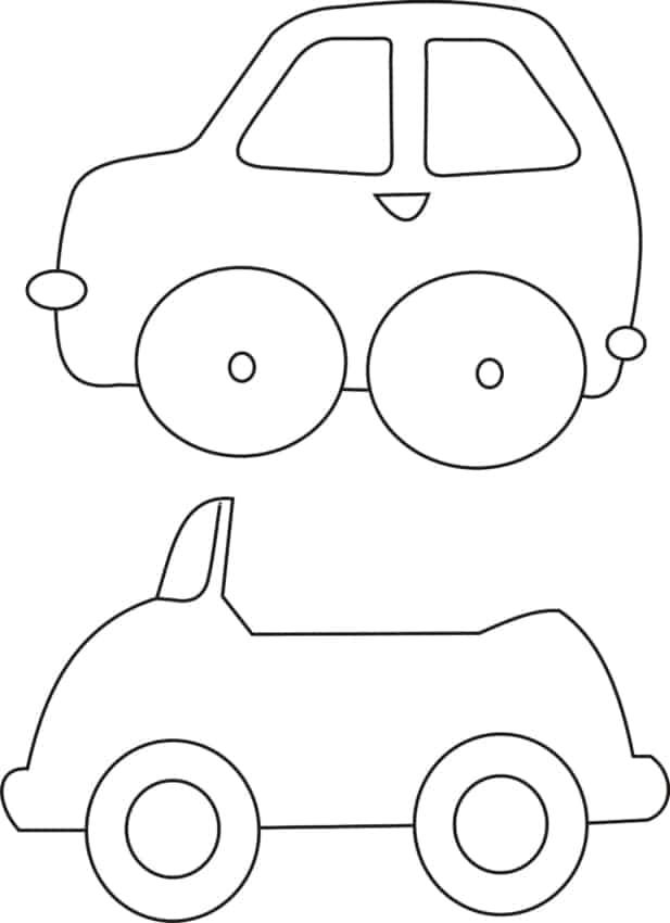 Moldes de lembrancinhas em EVA carro