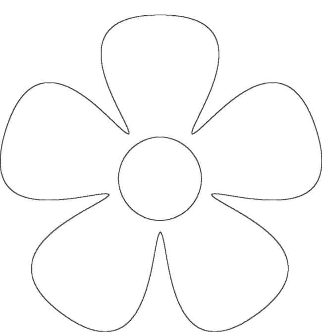 Moldes de lembrancinhas em EVA flor