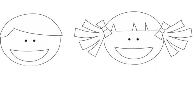 Moldes de lembrancinhas em EVA menino e menina