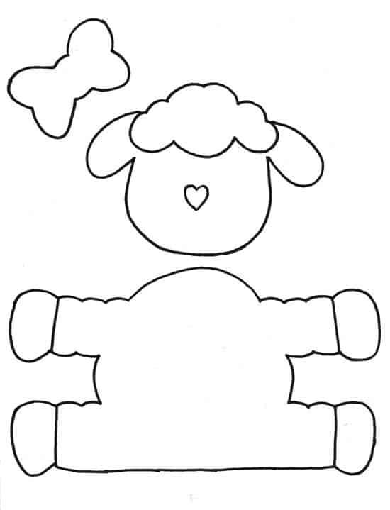 Moldes de lembrancinhas em EVA ovelha