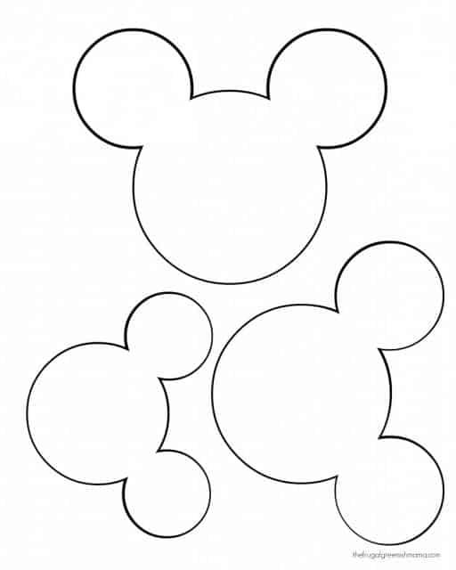 Moldes de lembrancinhas em EVA rato
