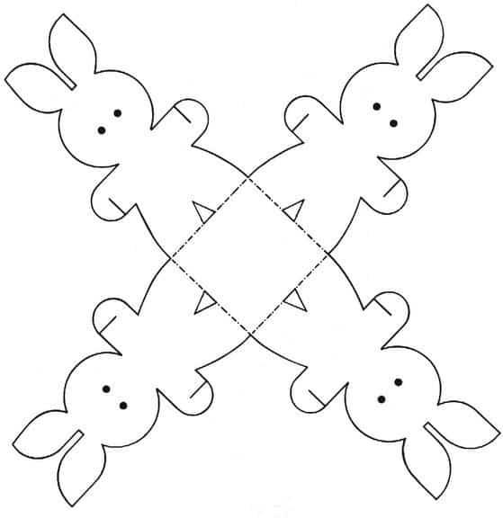 Moldes de lembrancinhas para Páscoa coelho
