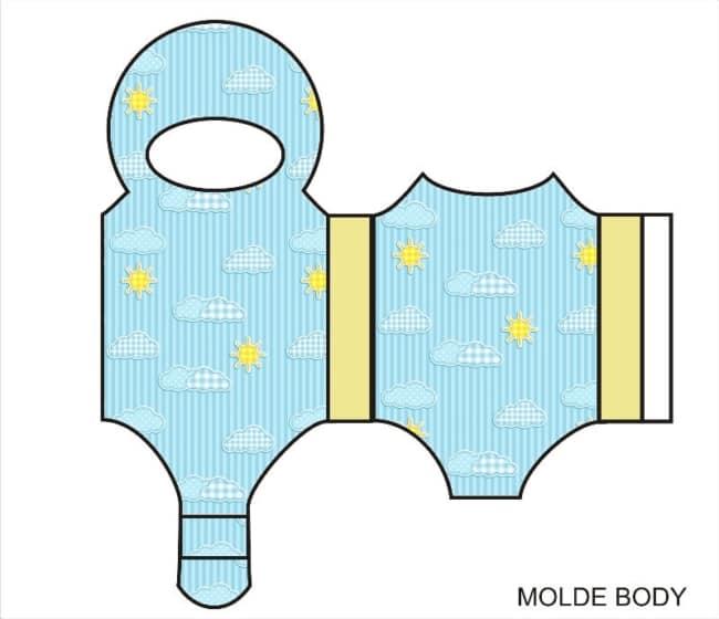 Moldes de lembrancinhas para chá de bebê body
