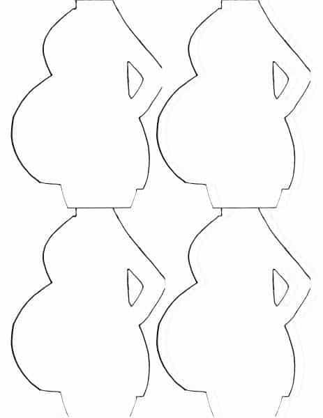 Moldes de lembrancinhas para chá de bebê gravidez
