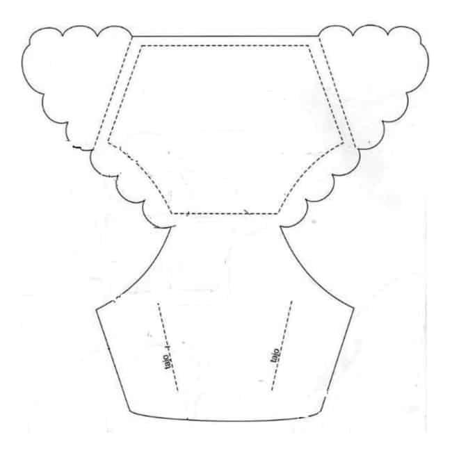 Moldes de lembrancinhas para chá de bebê vestido