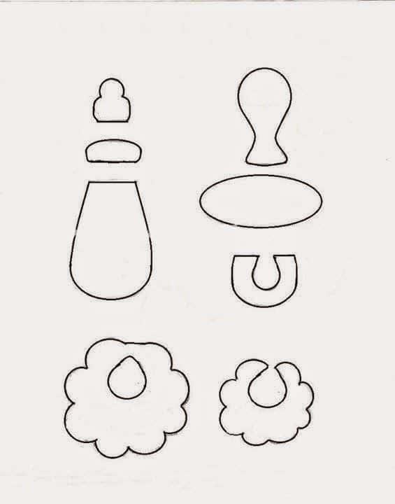 Moldes de lembrancinhas para chá de bebê