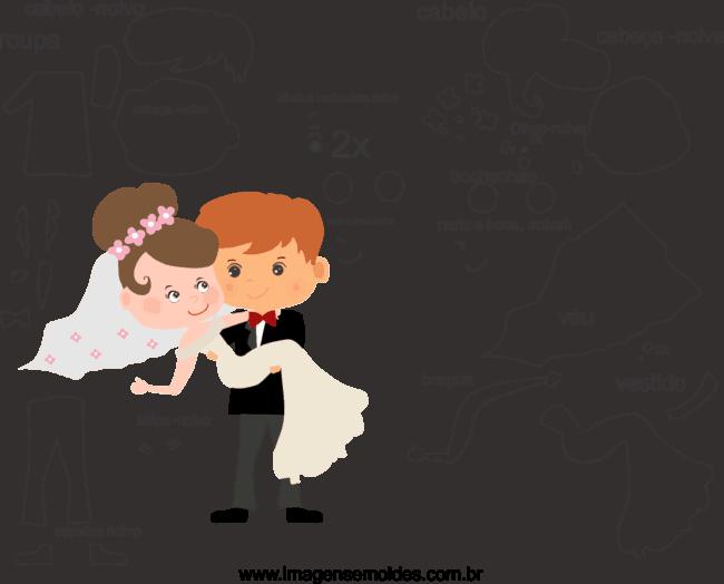 Moldes dos noivos para casamento