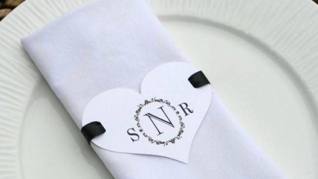 Porta guardanapo barato para casamento cetim