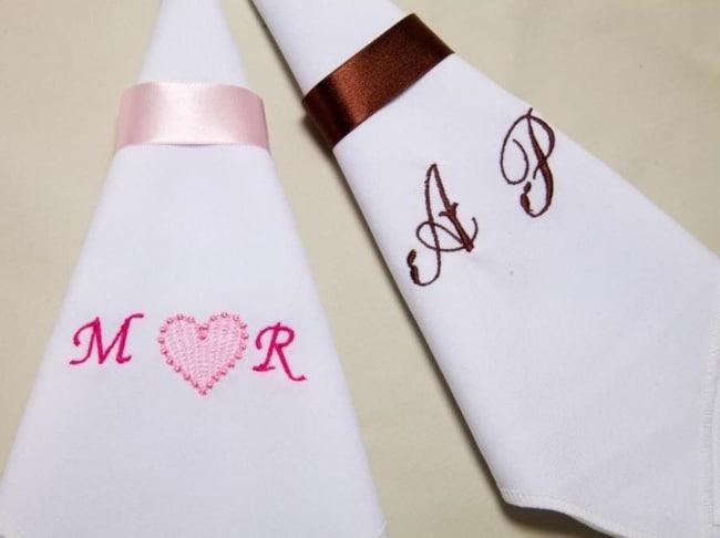 Porta guardanapo barato para casamento de cetim