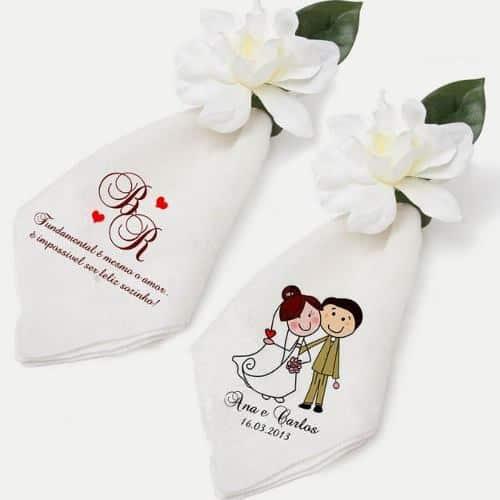 Porta guardanapo barato para casamento de flor