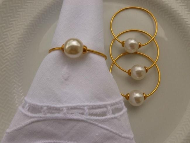 Porta guardanapo barato para casamento dourado aço