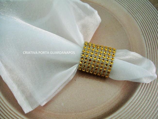 Porta guardanapo barato para casamento dourado